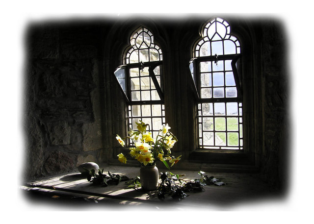 Iona Abbey window