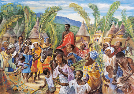 Palm Sunday by Jesus Mafa