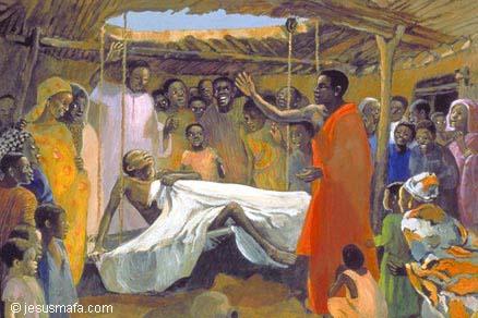 Jesus heals paralized man