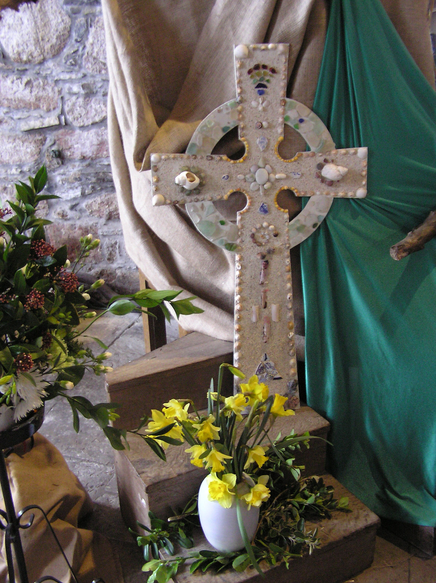 Celtic cross Iona Abbey