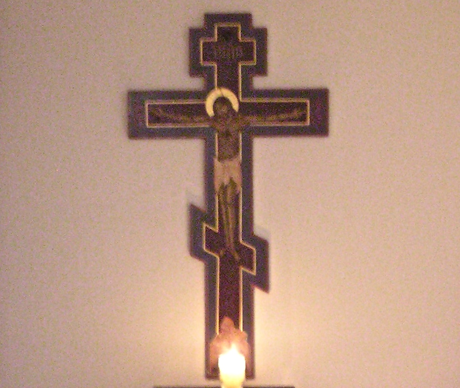 Cross and candle