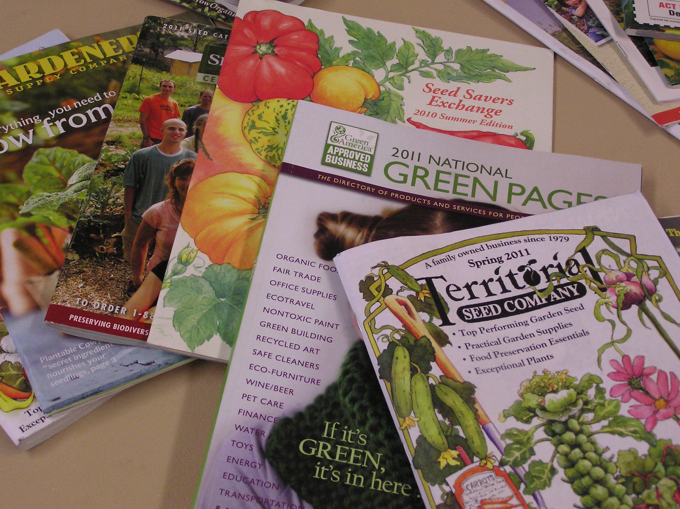 Garden catalogues everywhere