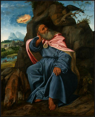 Elijah fed by raven
