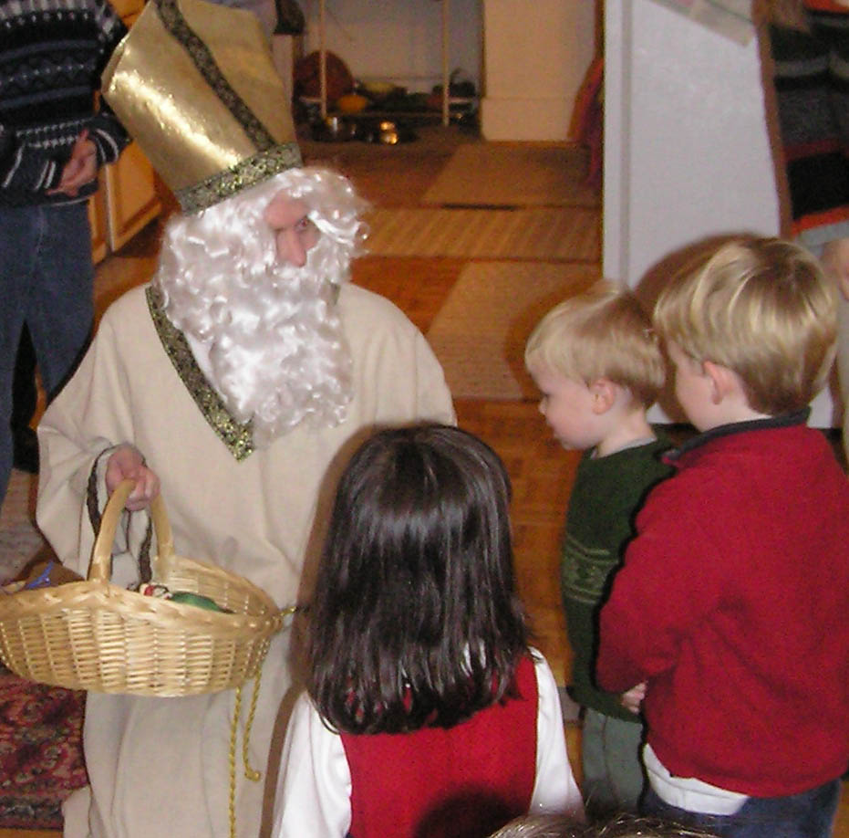 St Nicholas with kids
