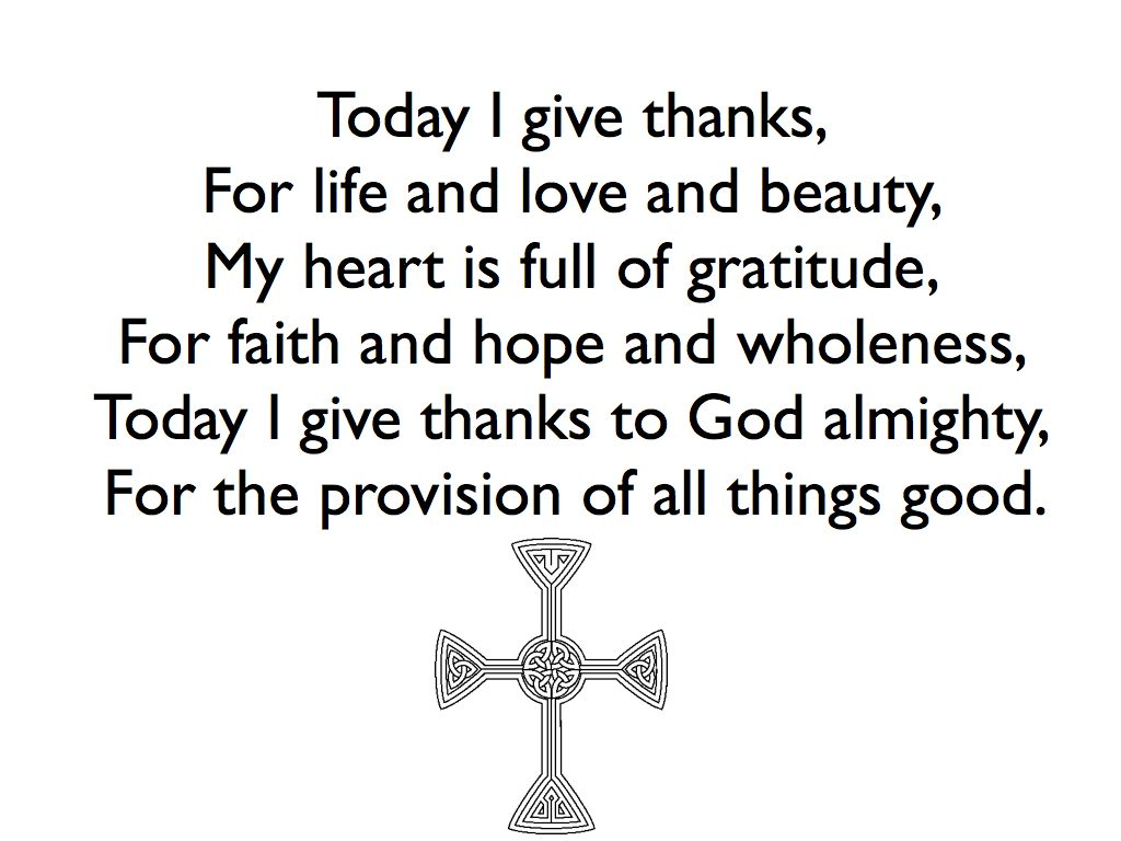 Today I give thanks