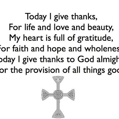 Today I give thanks - Christine Sine