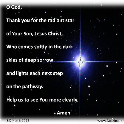God thank you for your radiant star - Bonnie Harr