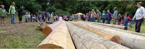 Celti Retreat 2012 - Dedicating the logs for our first Mustard Seed Village
