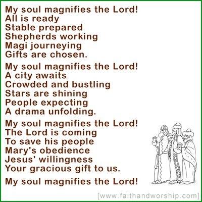 My soul maginifies the Lord - John Birch