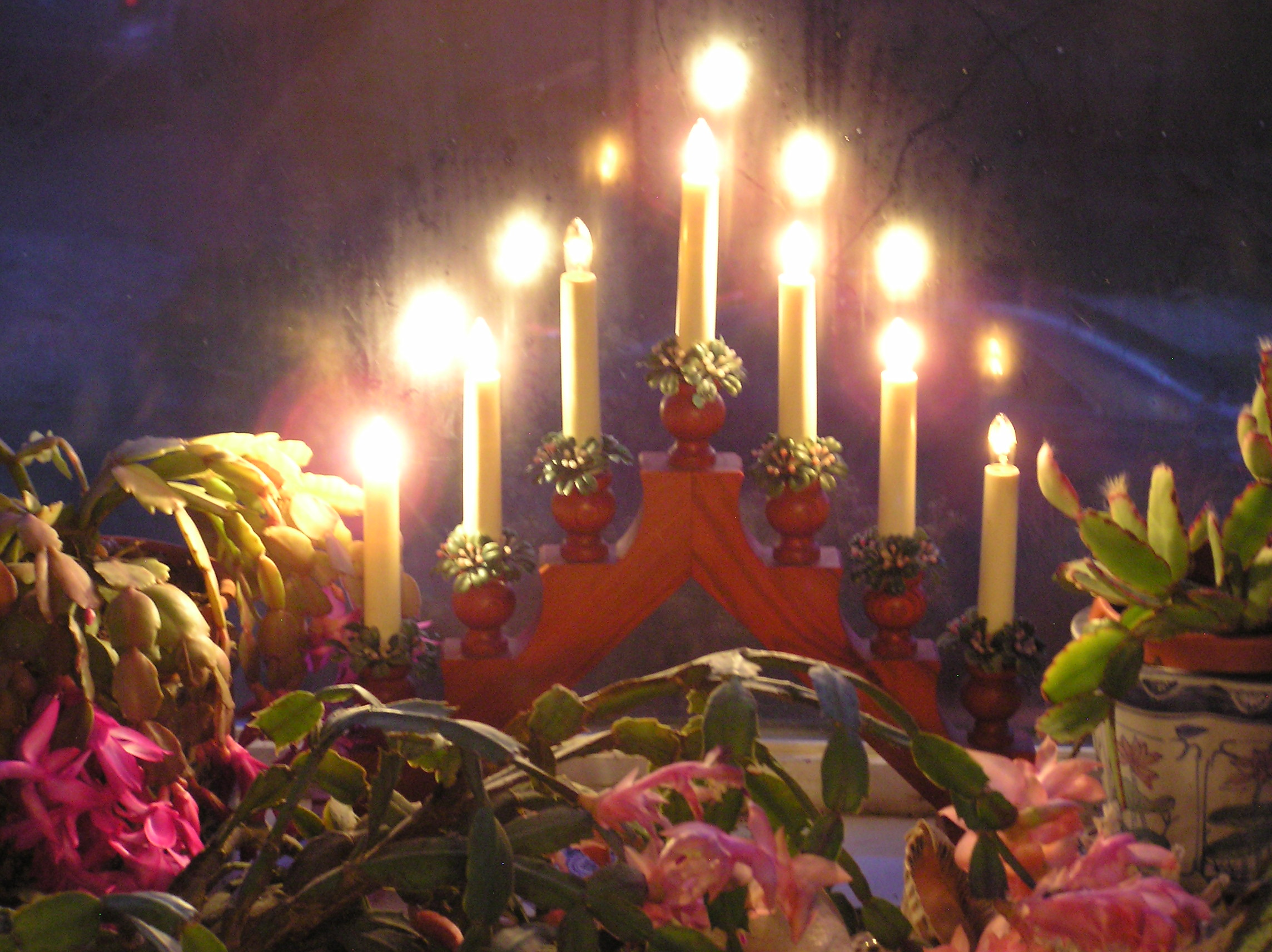 Christmas candles photo by Christine Sine