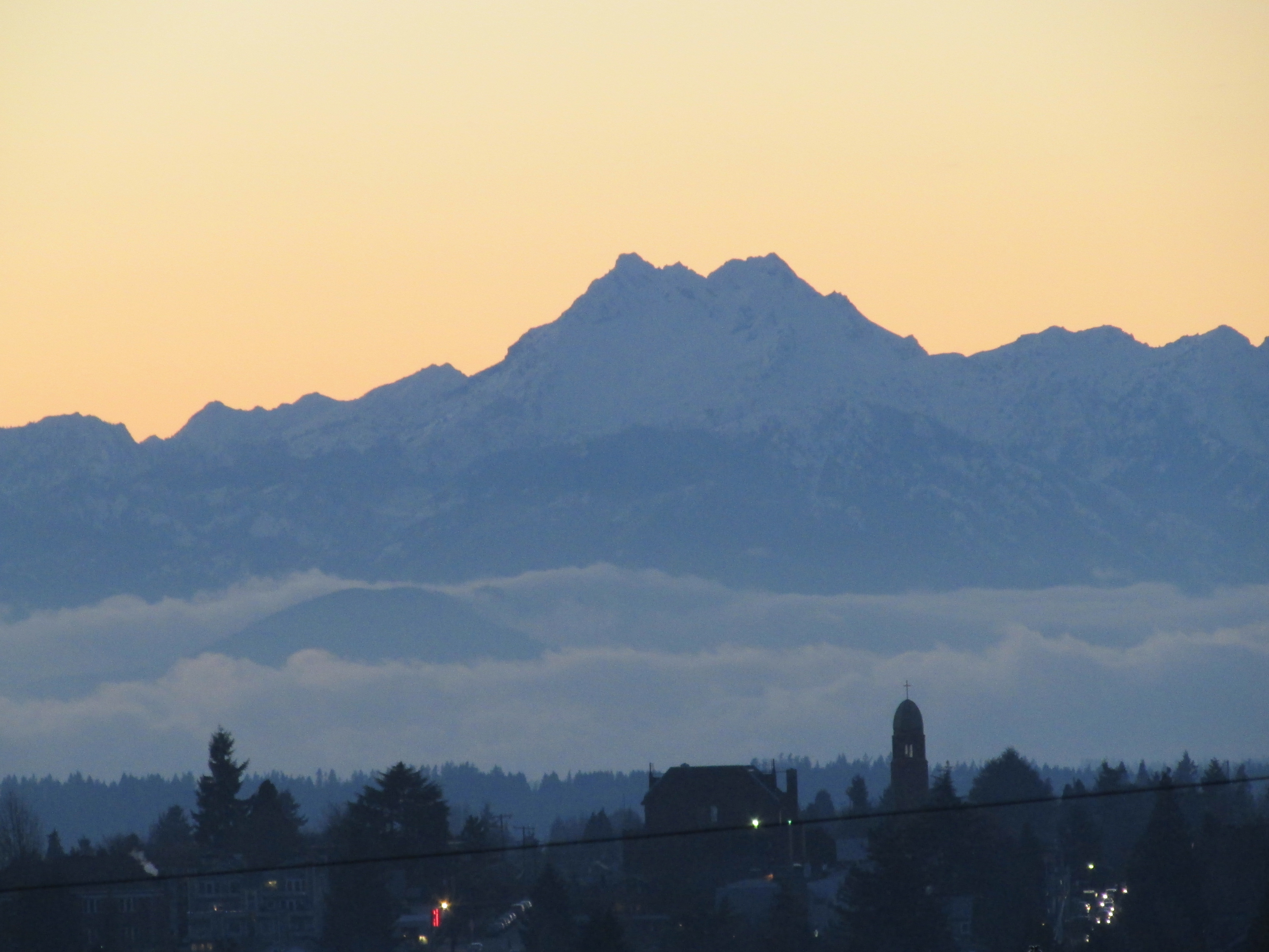 Olympic mountain view