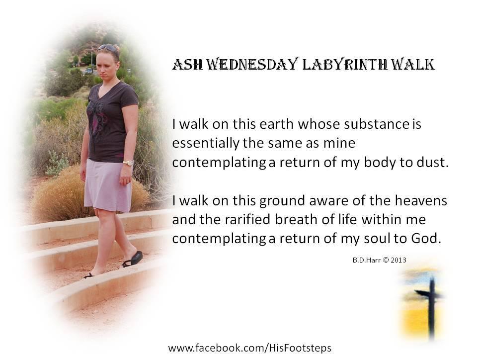 Ash Wednesday Labyrinth walk