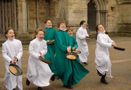 Pancake celebration Salisbury Cathedral http://www.salisburycathedral.org.uk