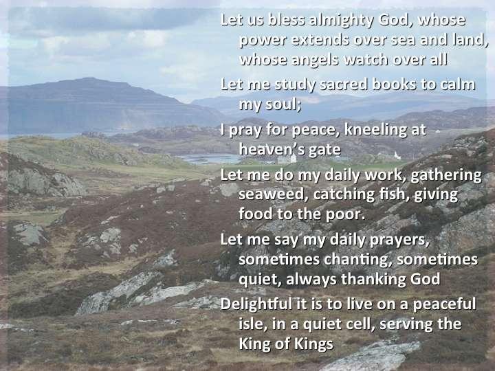 Columba's prayer.125