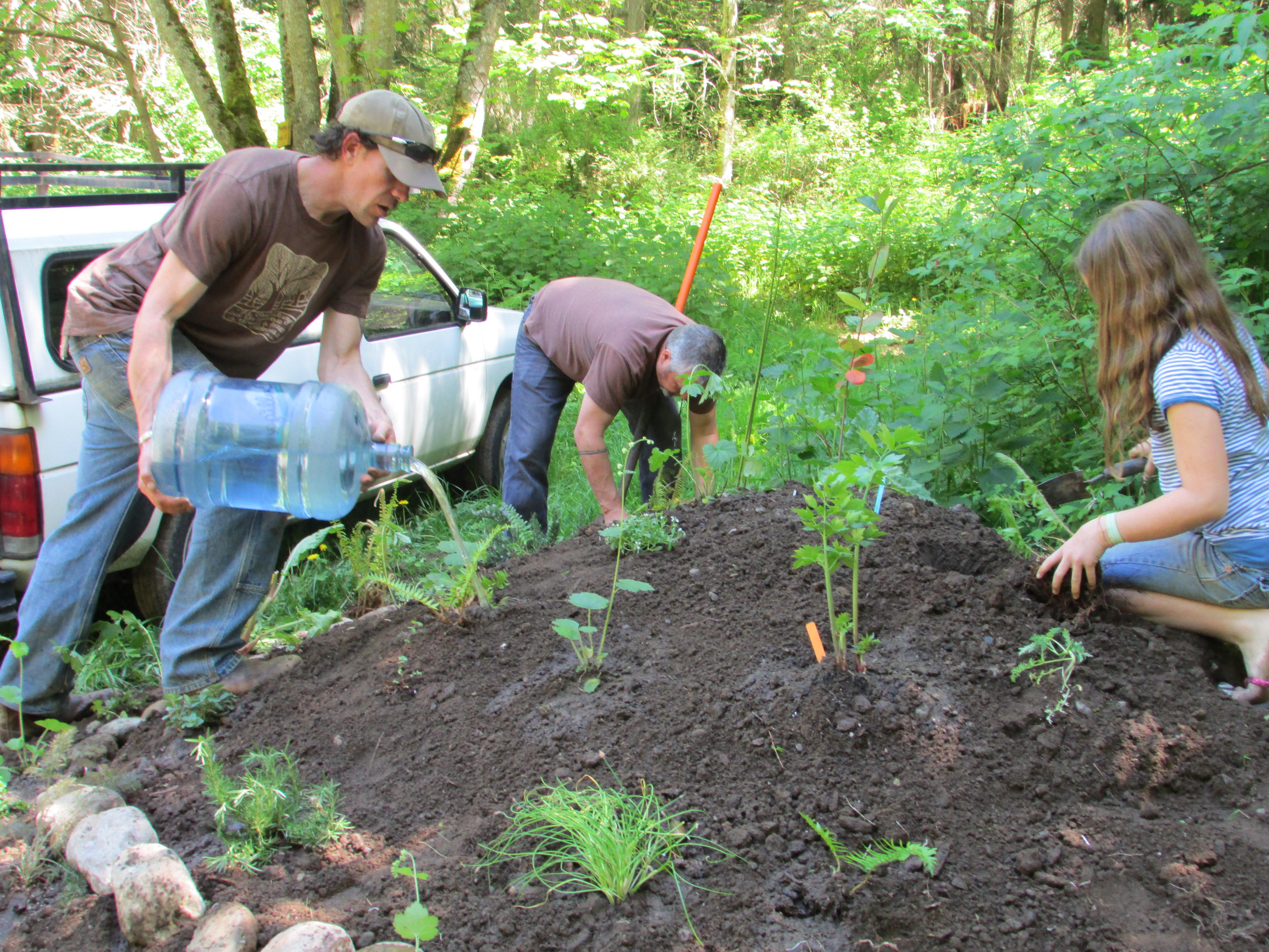 Small beginnings - a kitchen garden mound at the Mustard Seed Village
