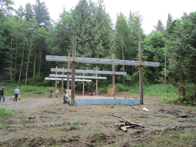 Beams are up and ready for the roof