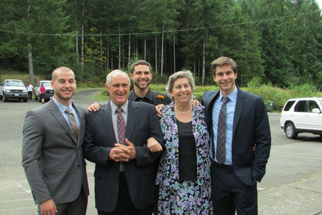 Rich and Cheryl Mackey with their sons Scott, Brett and Wade