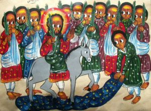 Ethiopian icon triumphal entry