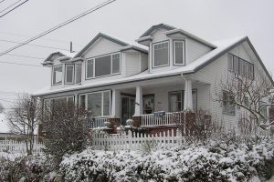 Mustard Seed House in the snow