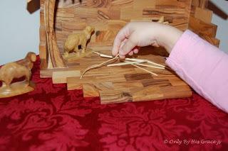 straw in manger