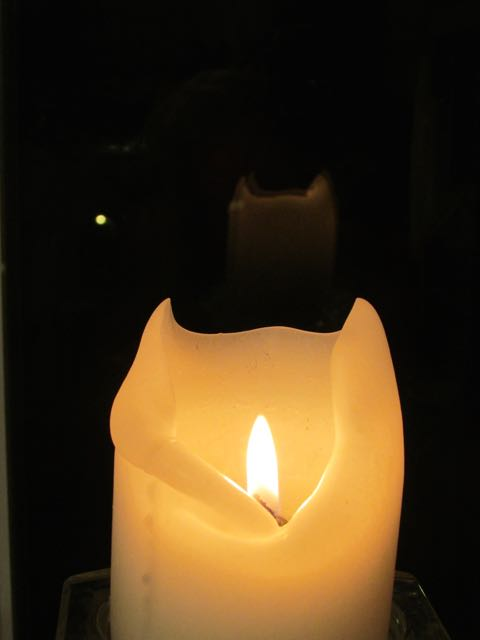 Candle reflection