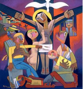 Crucifixion Art by He Qi