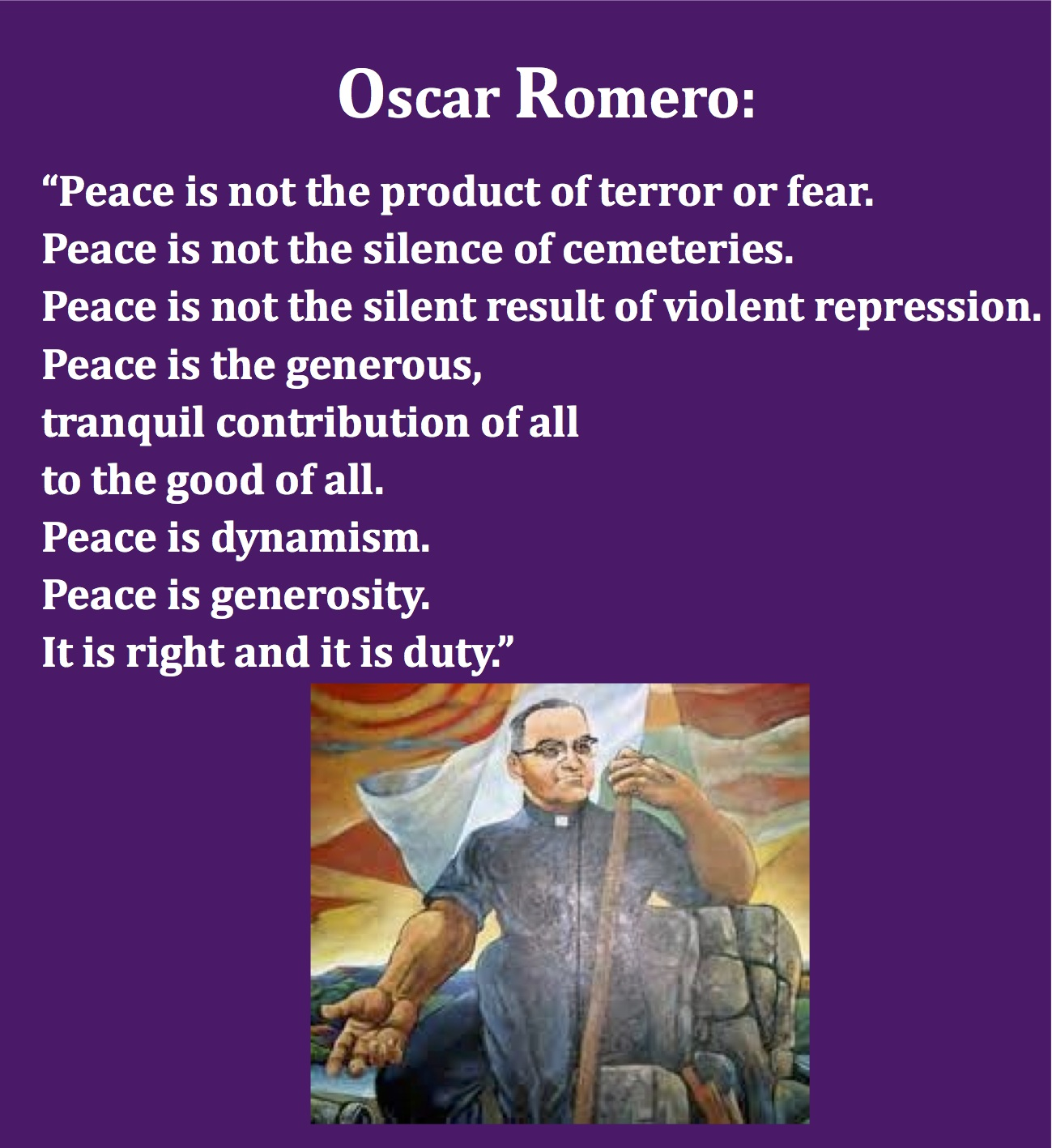 From http://pastordawn.com/2014/03/24/peace-oscar-romero/