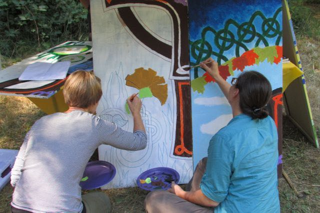 Celtic retreat mural