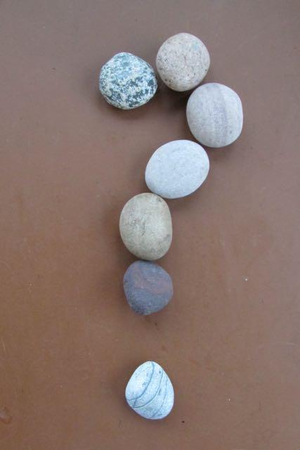 Stone question mark