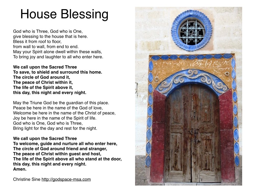 prayer for the season a house blessing godspacelight