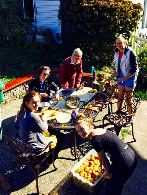Apple party at the Mustard Seed House