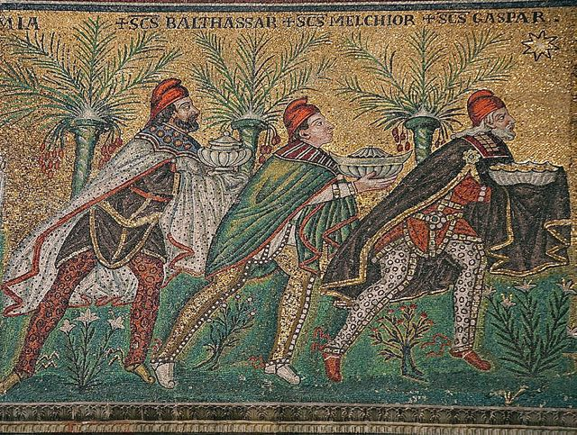 Basilica of Sant'Apollinare Nuovo in Ravenna, Italy- The Three Wise Men, photo by Nina Aldin Thune