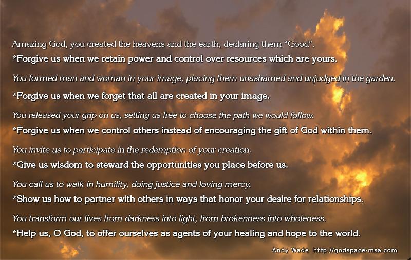 liturgy of healing-shalom - Andy Wade