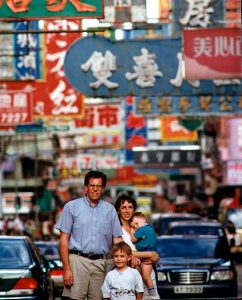 Our family circa 1997 in Kowloon City, Hong Kong – our neighborhood for eleven years.