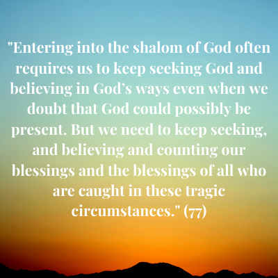 Shalom and wholeness