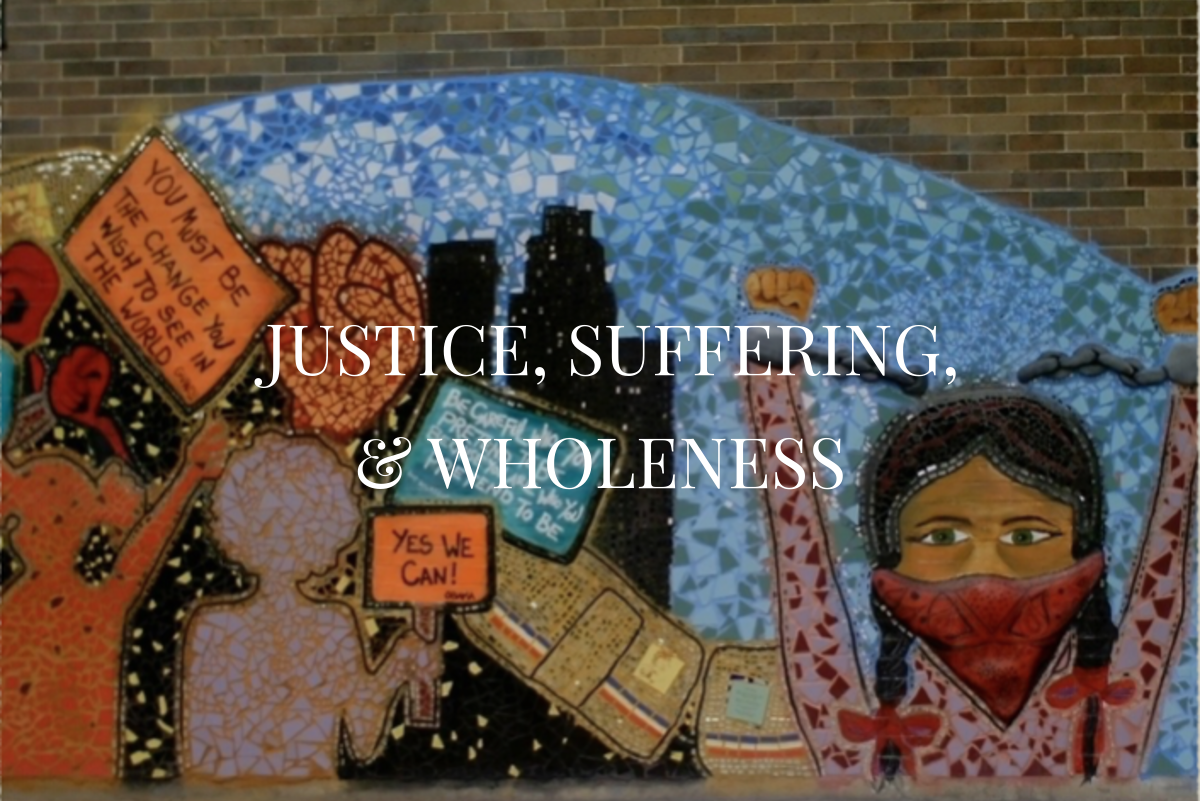 Justice suffering wholeness tile