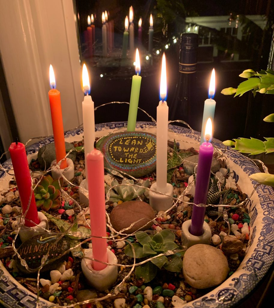 Lean Towards the Light Advent Garden