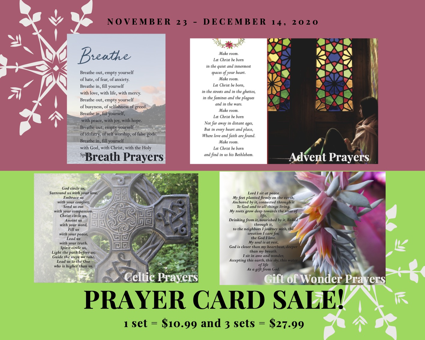 Prayer Card sale