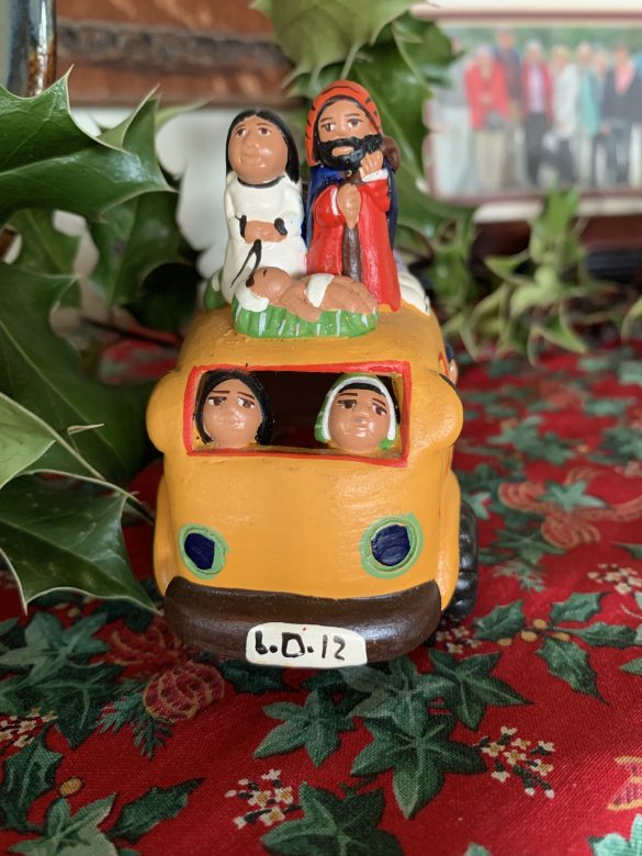 The Holy Family flees into Egypt