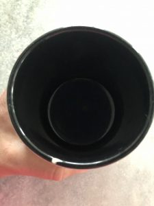 CUP open and empty