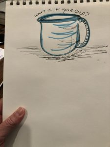 cup and notepad