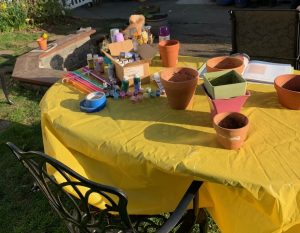 materials for painting pots