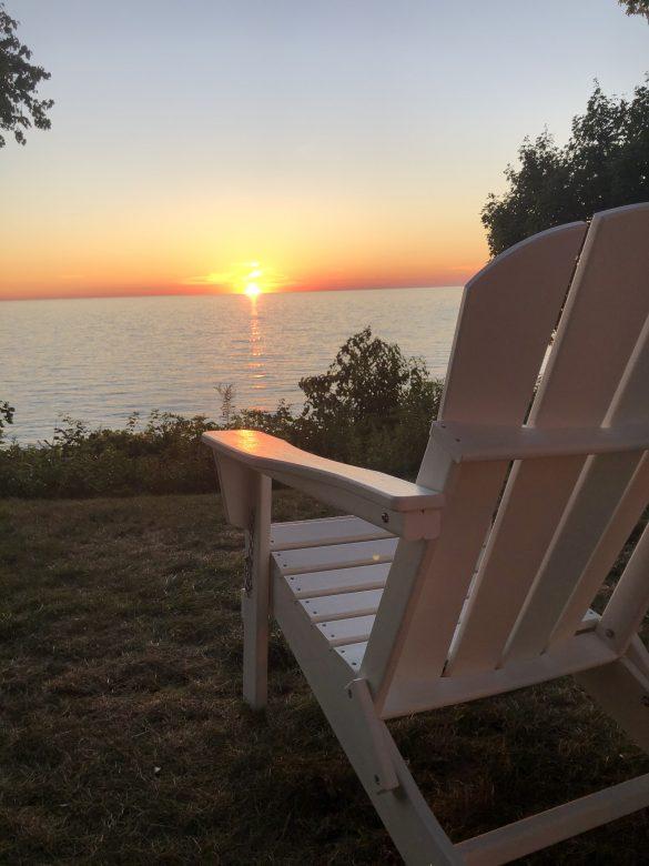 Sunset and aidornadak chair