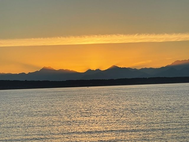 Sunset at Anacortes