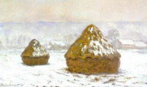1274 Grainstacks Snow Effect Meules effet de neige 1890 91 60 x 100cm Oil on Canvas Hill Stead Museum Farmington CT
